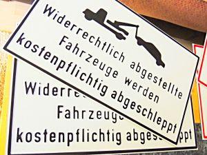 Parkplatz-Schilder-München